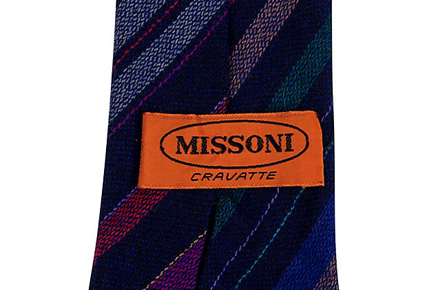 Missoni Wool Stripe Tie