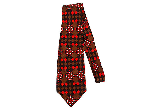 Lanvin Geometric Red   Tie