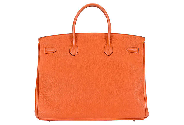 Hermès Orange Togo Birkin Bag