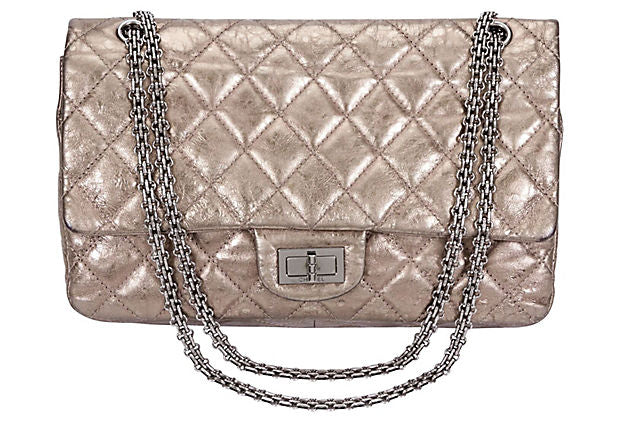 Chanel Pewter Jumbo Double Flap Bag