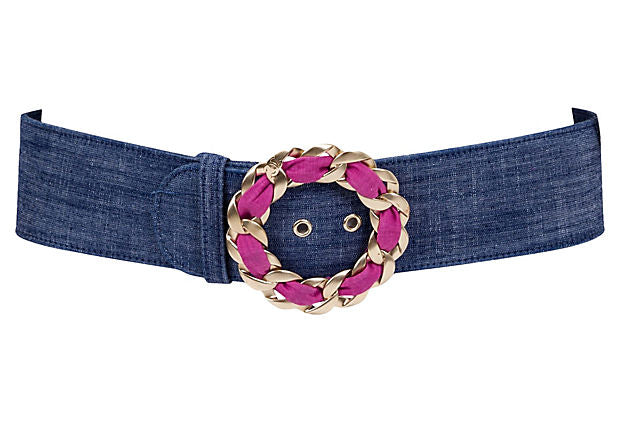 Chanel Denim & Chain Belt