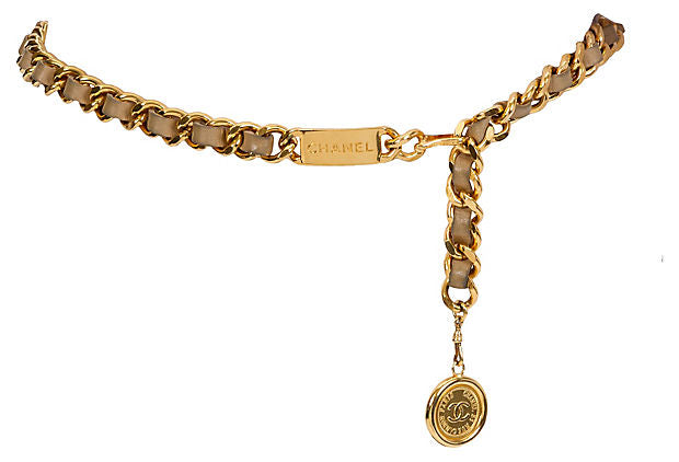 Chanel Beige Lambskin Belt/Necklace