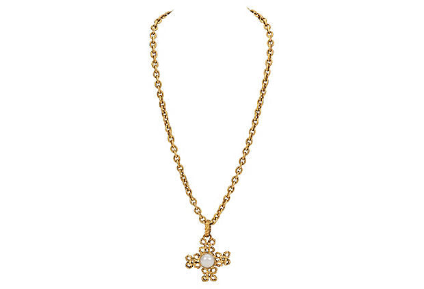 Chanel Cross Necklace 1995