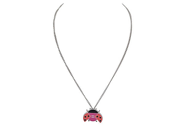 Chanel Enameled Ladybug Necklace