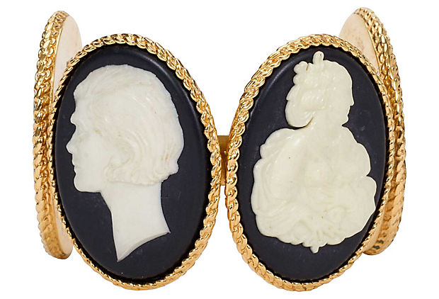1970s Chanel Cameo Cuff - Chanel - Vintage Lux