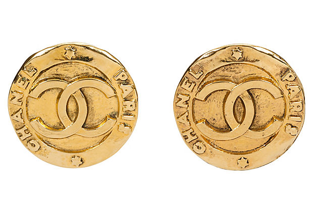 Chanel Oversize Gold Earrings