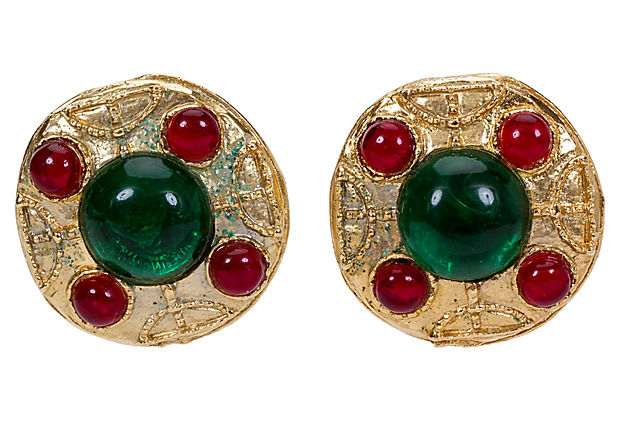 1980s Chanel Gripoix Earrings - Chanel - Vintage Lux