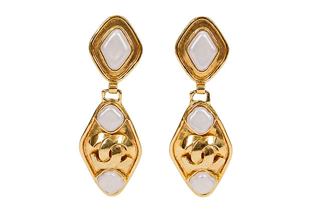 Chanel Gold & Gripoix Drop Earrings