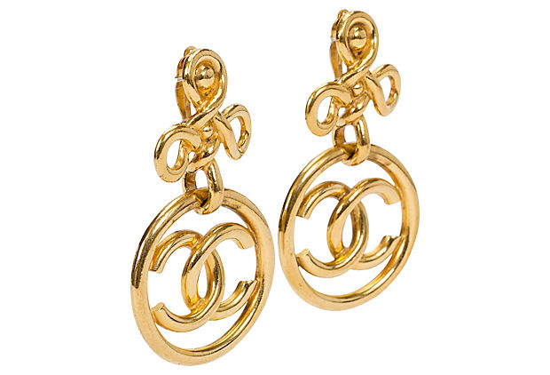 Chanel Oversized Drop Earrings 1992