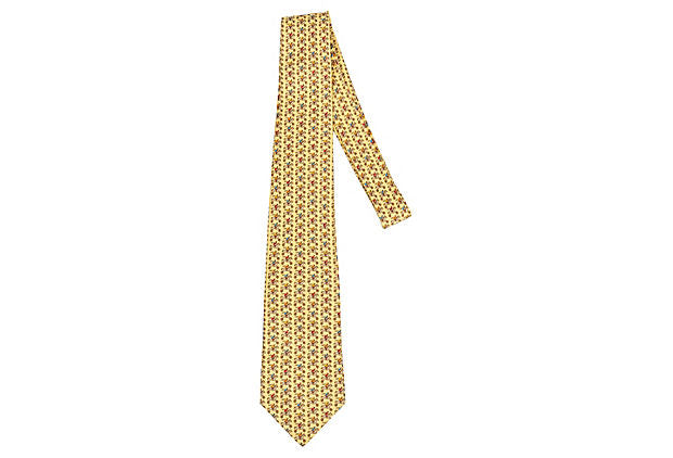 Hermès Yellow Silk Racehorse Tie