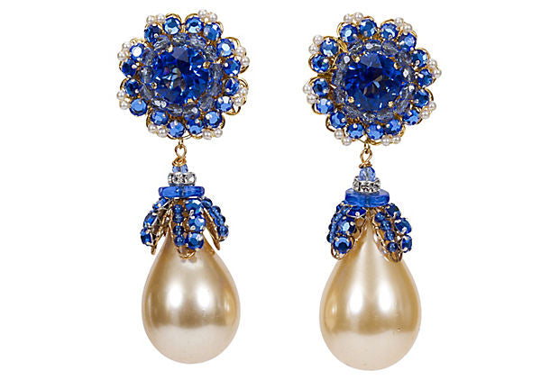 Vrba Faux-Pearl Earrings