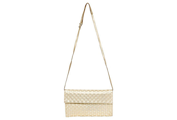 Bottega Veneta Gold Evening Bag