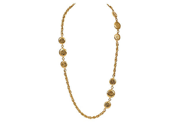 1970s Chanel Coin Sautoir Necklace - Chanel - Vintage Lux