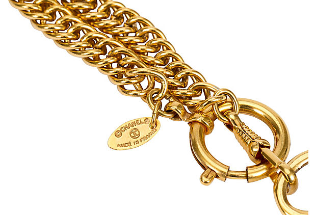 Chanel Quilted Magnifier Necklace