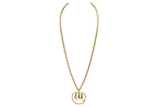 Chanel Dangling Letters Pendant Necklace - Chanel - Vintage Lux
