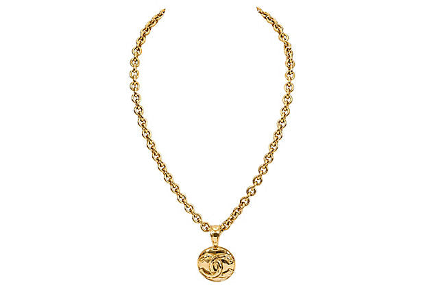 Chanel Medium Round Pendant CC Necklace
