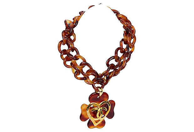 Chanel Extra-Long Faux-Tortoise Necklace