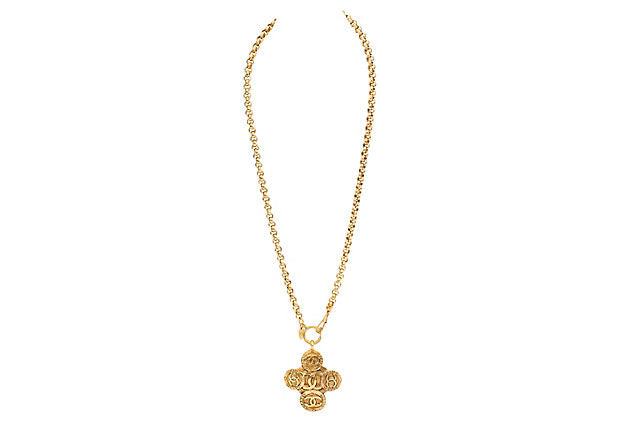 Chanel Clover Necklace - Chanel - Vintage Lux