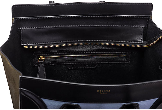 Céline Tricolor Pony Hair Mini Luggage