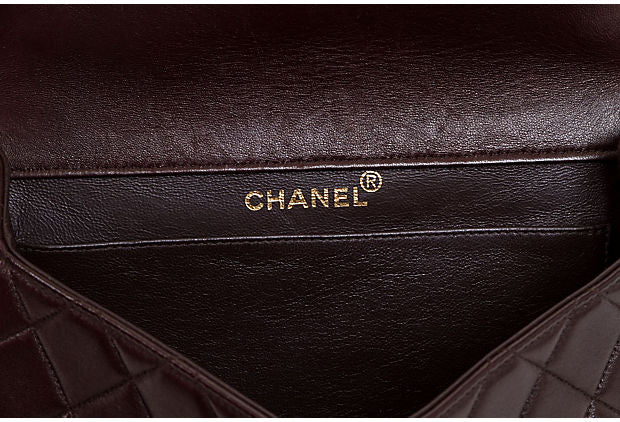 Chanel Brown Double-Sided Flap Bag