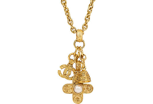 Chanel Triple-Charm Florentine Necklace