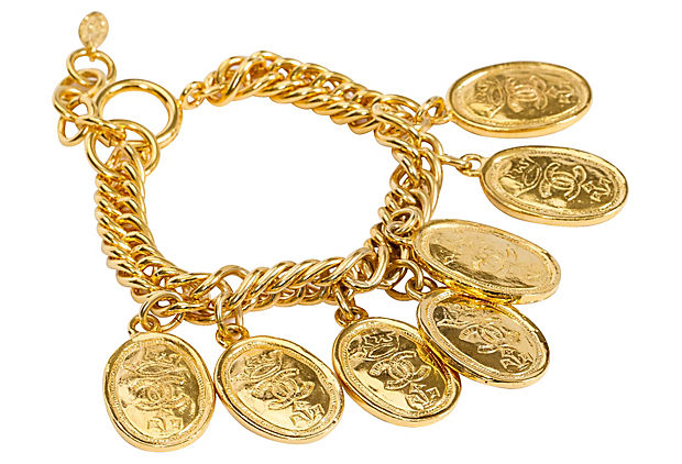 Chanel Oval Coin Charm Bracelet