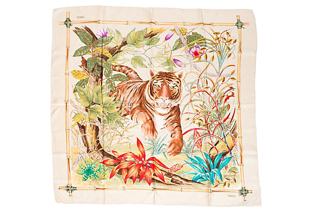 Gucci Silk Tiger Scarf
