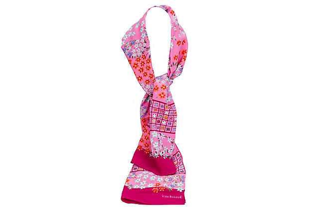 Cacharel Pink Silk Twill Scarf