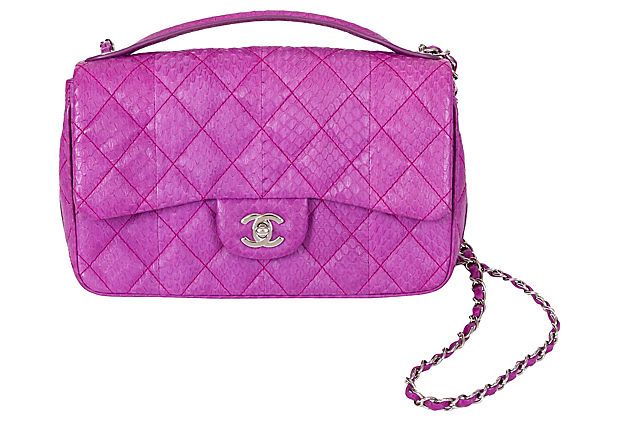 Chanel Rare Purple Python Flap Bag