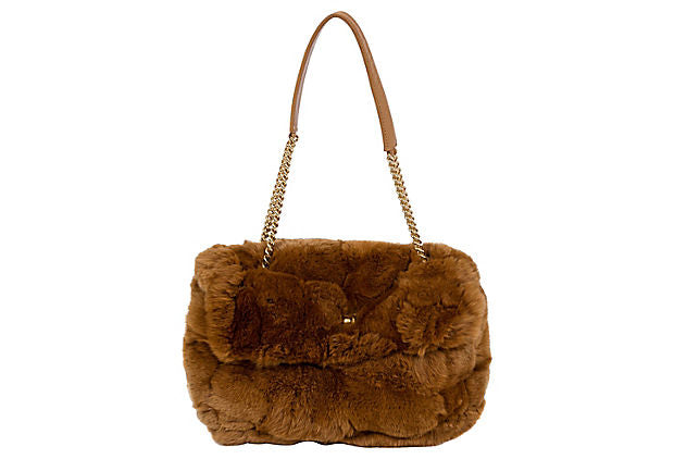 Chanel Chinchilla Camel Flap Bag