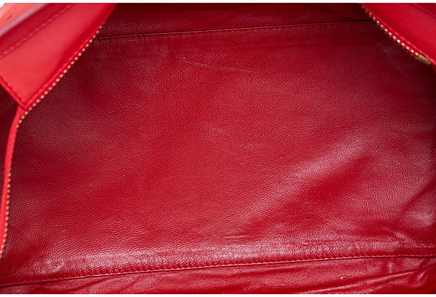 Celine Red Leather Mini Luggage Bag