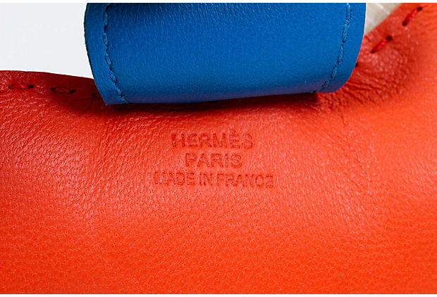 Hermes Crin MM Rodeo Bag Charm Poppy