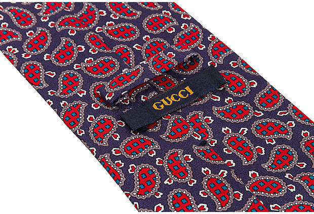 Gucci Paisley Print Tie