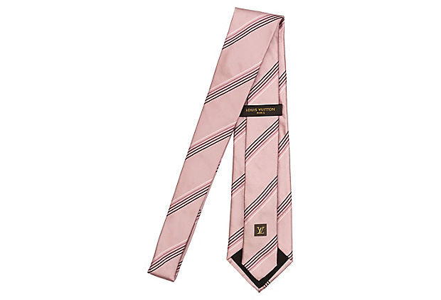Louis Vuitton Pink Stripe Tie