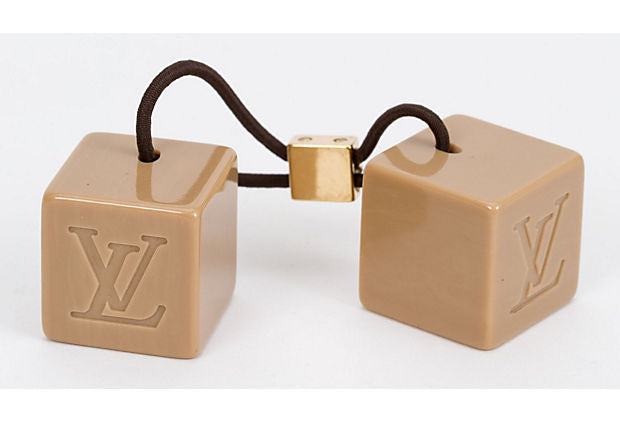 Vuitton Cream Lucite Cube Hair Tie