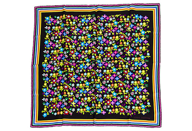 Vuitton Limited Ed. Murakami Silk Scarf