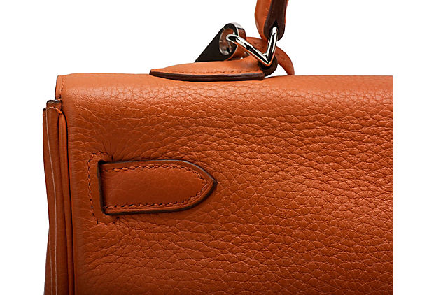 Hermès Orange Clemence 35cm Kelly