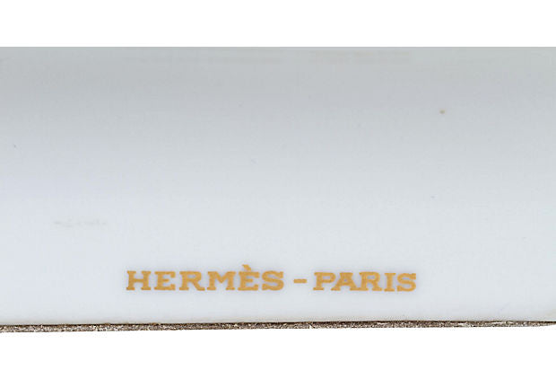 Hermès White Porcelain Horse Ashtray