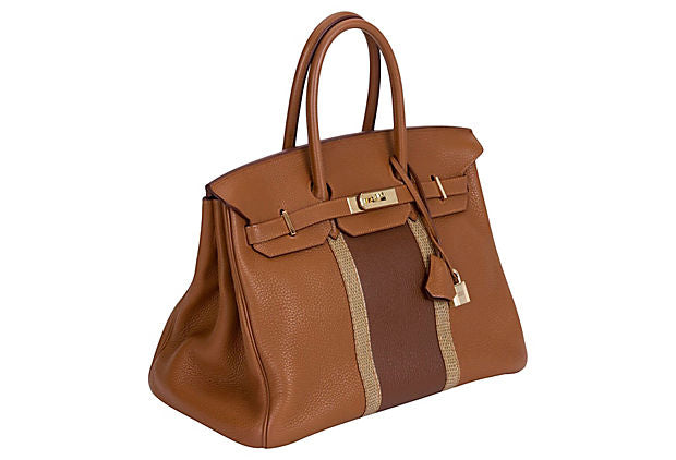 Hermès 35cm Gold & Marron Club Birkin