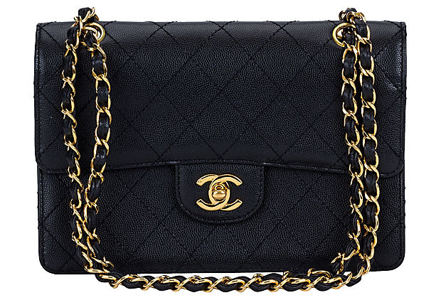 1990s Chanel Black Caviar Handbag