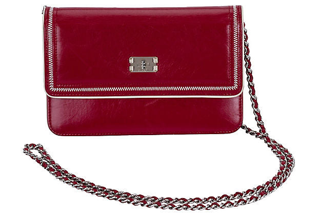 Chanel Burgundy Wallet on Chain
