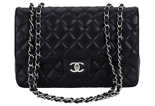 Chanel Black Caviar Single Jumbo Flap