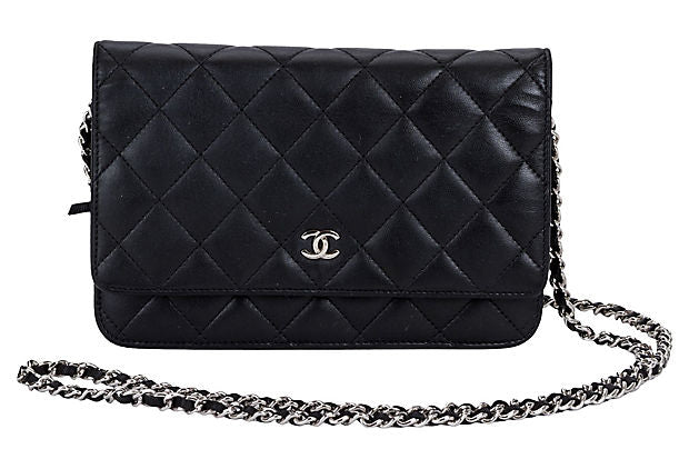 Chanel Black Quilted Wallet on Chain