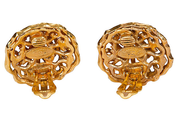 Chanel Perforated Earrings