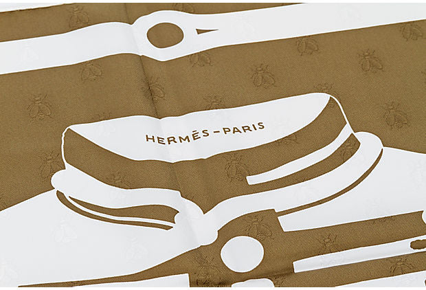 Hermès Brown & Cream Brandebourgs Scarf