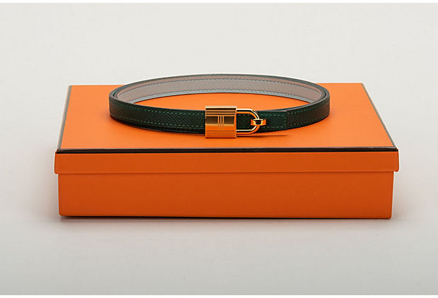Hermes Green Blue Atolle Lock Belt BNIB