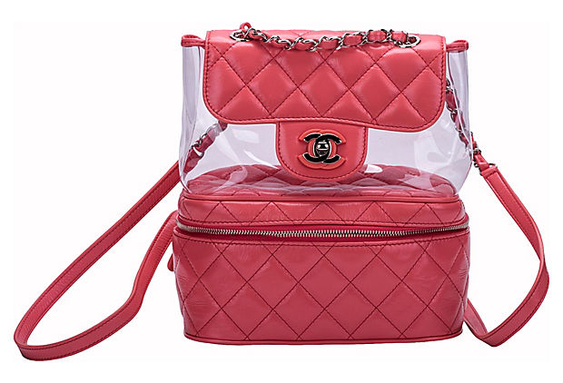 Chanel Vinyl & Pink Leather Backpack