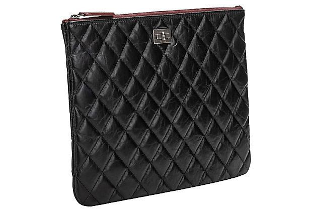 Chanel BNIB Black Reissue Leather Clutch