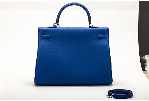 Hermes Kelly 35 Electric Blue Togo BNIB