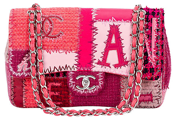 Chanel Pink Patchwork Jumbo Flap Bag
